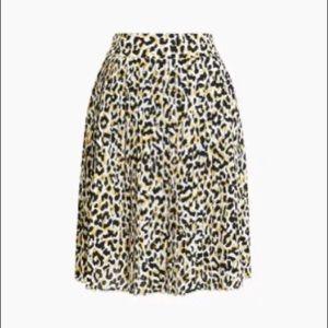 Leopard Pleated Mini Skirt